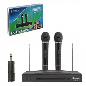 Микрофоны DEFENDER MIC-155 набор, беспроводные, радио 87-92