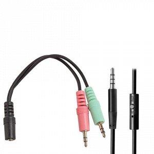 Наушники с микрофоном (гарнитура) DEFENDER Accord 175, прово