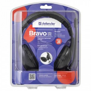 Наушники с микрофоном (гарнитура) DEFENDER Bravo HN-015, про
