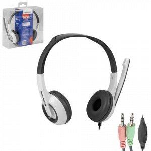 Наушники с микрофоном (гарнитура) DEFENDER Esprit 055, прово