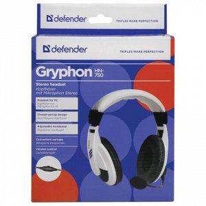 Наушники с микрофоном (гарнитура) DEFENDER Gryphon HN-750, п