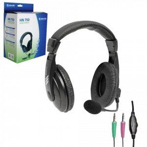 Наушники с микрофоном (гарнитура) DEFENDER HN-750, провод.,