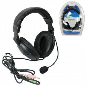 Наушники с микрофоном (гарнитура) DEFENDER HN-898, провод.,