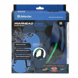 Наушники с микрофоном (гарнитура) DEFENDER Warhead G-200,про