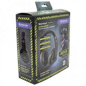 Наушники с микрофоном (гарнитура) DEFENDER Warhead HN-G110,