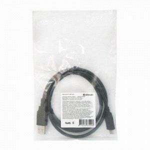 Кабель USB 2.0 AM-TypeC 1м DEFENDER, для подключения портати