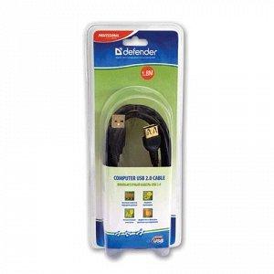 Кабель-удлинитель USB 2.0 1,8м DEFENDER, M-F, 2 фильтра, для