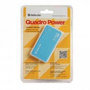 Хаб DEFENDER QUADRO POWER, USB 2.0, 4 порта, порт для питани