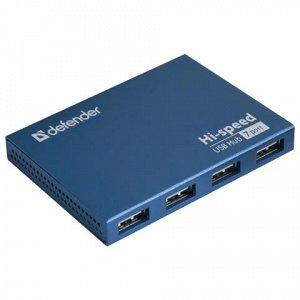 Хаб DEFENDER SEPTIMA SLIM, USB 2.0, 7 портов,порт для питани