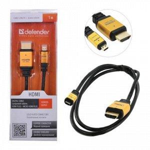 Кабель HDMI-miniHDMI 1м DEFENDER, M-M, для передачи цифровог