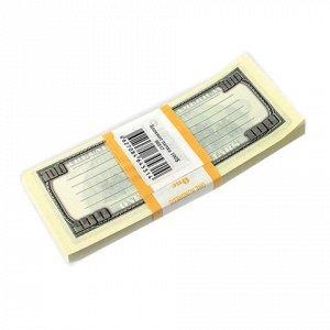 """Блок для записей """"100 долларов"""", проклеенный, 15*6*1, ш/к 78"""