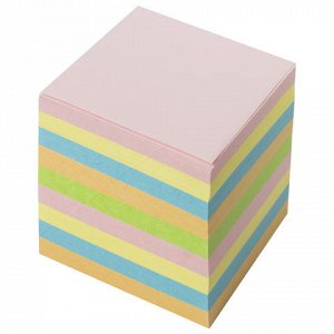Блок для записей BRAUBERG непроклеенный, куб 9*9*9 см, цветн