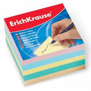 Блок для записей ERICH KRAUSE непроклеенный, куб 9*9*5 см, ц