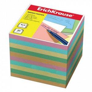 Блок для записей ERICH KRAUSE непроклеенный, куб 9*9*9 см, ц