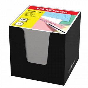 Блок для записей ERICH KRAUSE в подставке картон. черной, ку