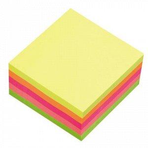 Блок самоклеящ. (стикер) HOPAX 76х76 мм, 400 л., 5 цветов, н