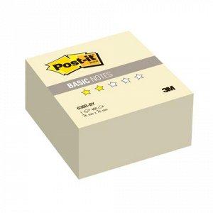 Блок самоклеящ. (стикер) POST-IT Basic 76х76 мм, 400 л., жел