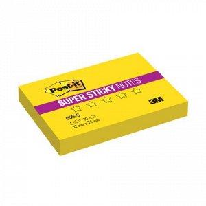 Блок самоклеящ. (стикер) POST-IT Super Sticky 51х76 мм, 90 л