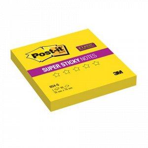 Блок самоклеящ. (стикер) POST-IT Super Sticky 76х76 мм, 90л.