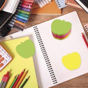 Блок самоклеящ. (стикер) фигурный BRAUBERG НЕОН, форма яблок