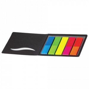Закладки клейкие HOPAX НЕОНОВЫЕ, пластиковые, 12х45мм, 5цвет