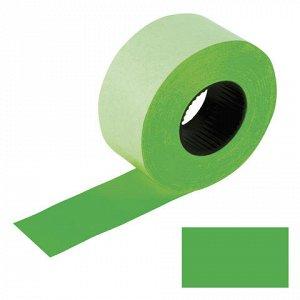 Этикет-лента 26*16мм прямоугольная, зеленая, КОМПЛЕКТ 5 руло