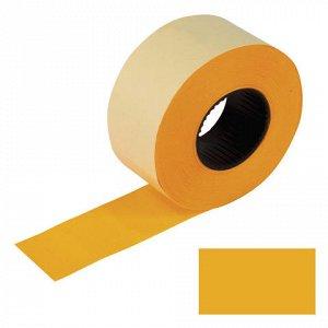 Этикет-лента 26*16мм прямоугольная, оранжевая, КОМПЛЕКТ 5 ру