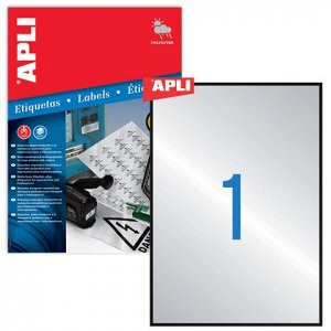 Этикетка самоклеящаяся APLI на листе ф А4, 1 этик., разм 210