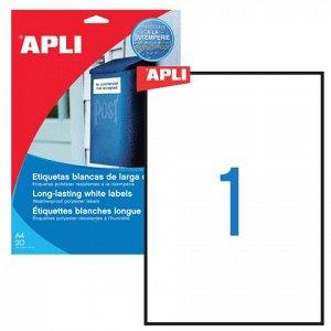 Этикетка самоклеящаяся APLI на листе ф А4, 1 этик., размер 2