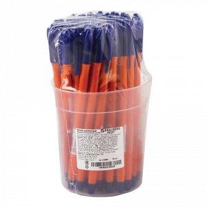 Ручка шариковая масляная BRAUBERG Flame, корпус оранжевый, у
