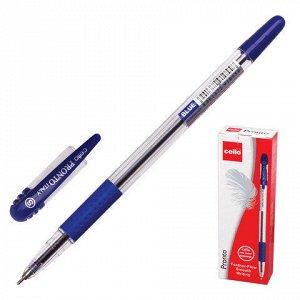 Ручка шариковая масляная CELLO Pronto, корпус прозрачный, уз
