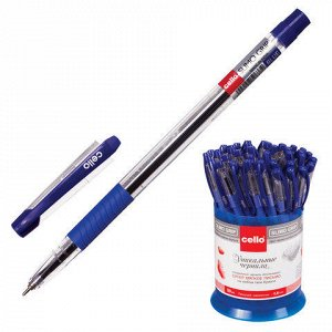 Ручка шариковая масляная CELLO Slimo Grip, корпус прозрачный