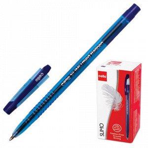 Ручка шариковая масляная CELLO Slimo, корпус тонированный си