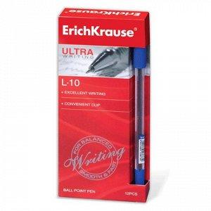 Ручка шариковая масляная ERICH KRAUSE Ultra-10, корпус прозр