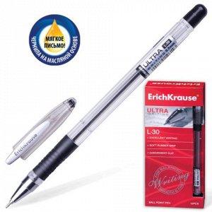 Ручка шариковая масляная ERICH KRAUSE Ultra-30, корпус прозр
