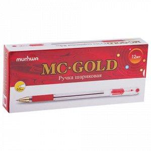 """Ручка шариковая масляная MUNHWA """"MC Gold"""", корпус прозрачный"""