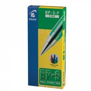 Ручка шариковая масляная PILOT BP-S, корпус тониров. зеленый