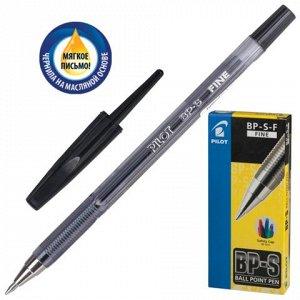 Ручка шариковая масляная PILOT BP-S, корпус тониров. черный,