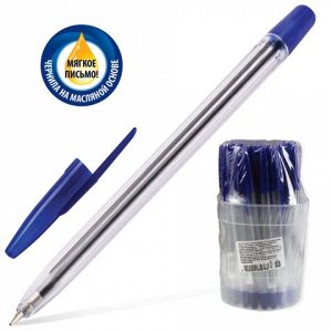 Ручка шариковая масляная СТАММ 111, корпус прозрачный, узел