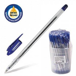 Ручка шариковая масляная СТАММ VeGa, корпус прозрачный, узел