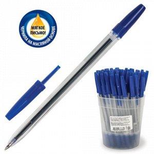 Ручка шариковая масляная СТАММ Оптима, корпус прозрачный, уз