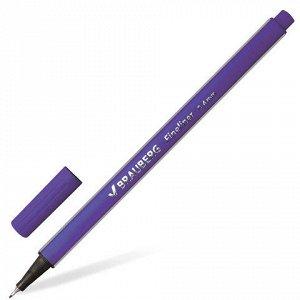 Ручка капиллярная BRAUBERG Aero, трехгранная, металлический