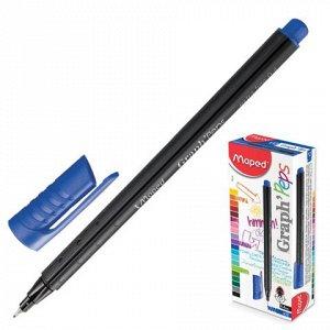 Ручка капиллярная MAPED (Франция) Graph' Peps, трехгран., ко