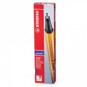 Ручка капиллярная STABILO Point, корпус оранжевый, толщина п