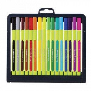 Ручки капиллярные SCHNEIDER, НАБОР 16шт, Line-Up, трехгранны
