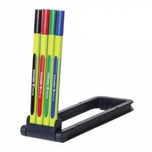 Ручки капиллярные SCHNEIDER, НАБОР 4шт, Line-Up, трехгранные