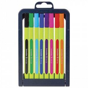 Ручки капиллярные SCHNEIDER, НАБОР 8шт, Line-Up, трехгранные