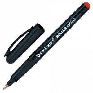 Ручка-роллер CENTROPEN, трехгранная, корпус черный, узел 0,7