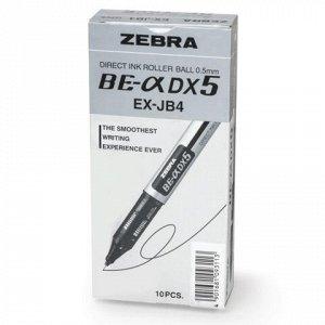 Ручка-роллер ZEBRA Zeb-Roller DX5, корпус серебристый, узел