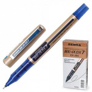 Ручка-роллер ZEBRA Zeb-Roller DX7, корпус золотистый, узел 0